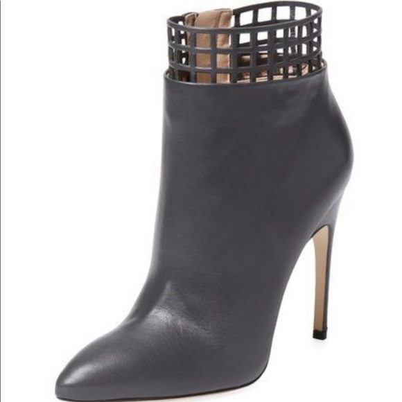 finest selection 5e23b 36a67 $1,045 Sergio Rossi Scarpe Donna Cut Out Bootie NWT